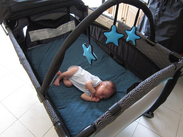 16-Trying out his Playpen